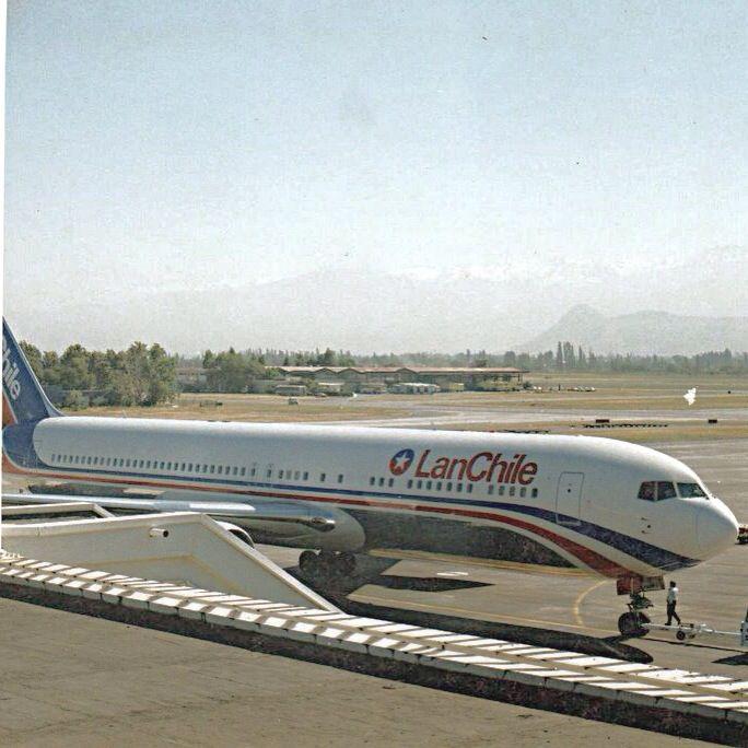 Boeing 767 of LAN at Santiago de Chile Airport