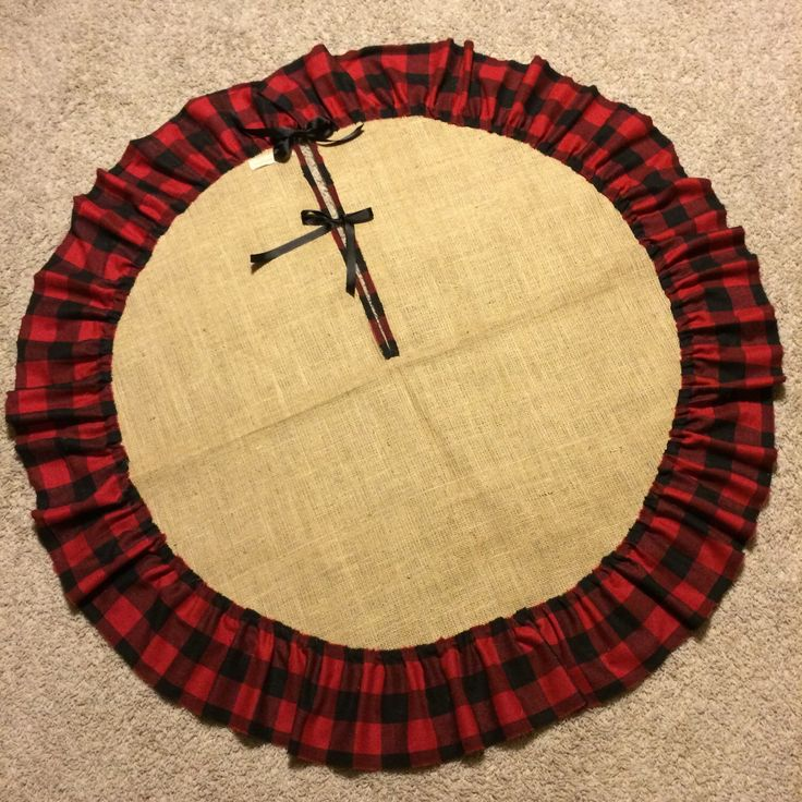 A personal favorite from my Etsy shop https://www.etsy.com/listing/252206290/pre-christmas-sale-48-burlap-tree-skirt Plaid Tree skirt. Buffalo plaid tree skirt. Burlap tree skirt. Rustic tree skirt