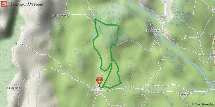 """[Cantal] Cézens Une boucle facile à faire et balisée. Au départ de Cézens. Accessible aux enfants.  La trace passe dans le bois de Lavergne.  Une balade qui peut devenir ludique grâce à des bornes """"énigmes"""" sur la faune locale."""