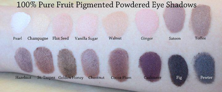 100 percent pure eyeshadow
