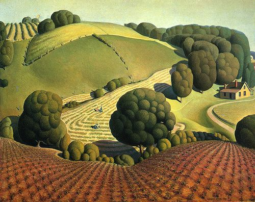 Young Corn, 1931. by Grant Wood