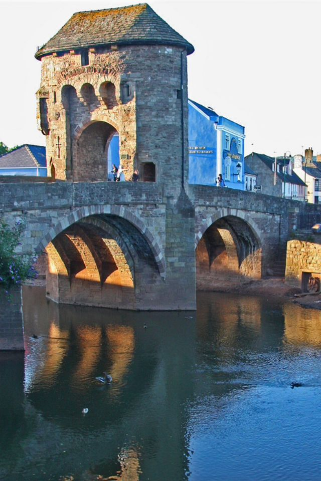Monnow Bridge in Monmouth, Wales, England