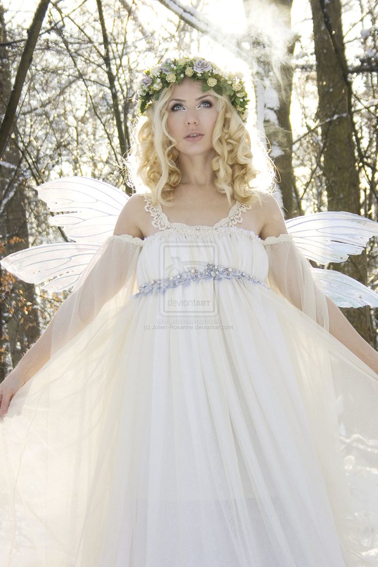 Develop a light heart then youu0027ll learn to fly -Winter Fairy  sc 1 st  Pinterest & 239 best Vow renewal? images on Pinterest | Gown wedding Short ...