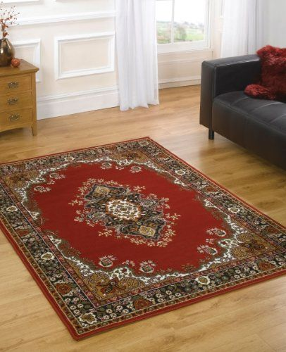 "Very Large Traditional Rug 180 x 250 cm (5'11"" x 8'2"") Red Carpet"