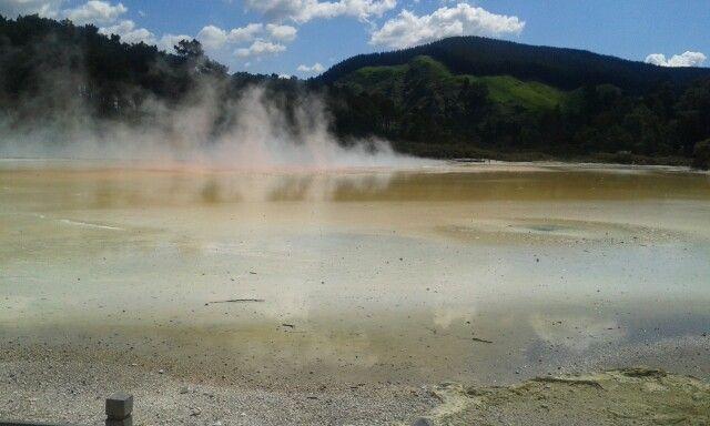 In der Nähe von Rotorua, thermal park
