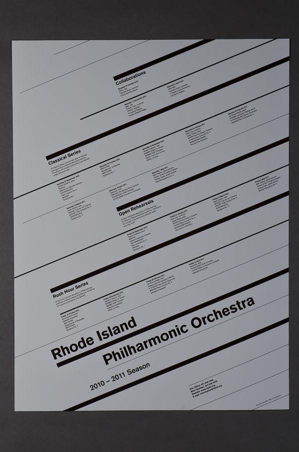 Rhode Island Philharmonic Orchestra Schedule Poster by Kiera Duffy, via Behance