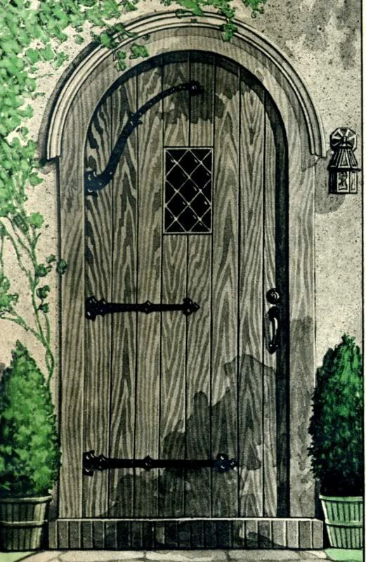 The front door on his neo-tudor was also a classic Wardway design. & 119 best Tudor Doors images on Pinterest | Entrance doors Front ...