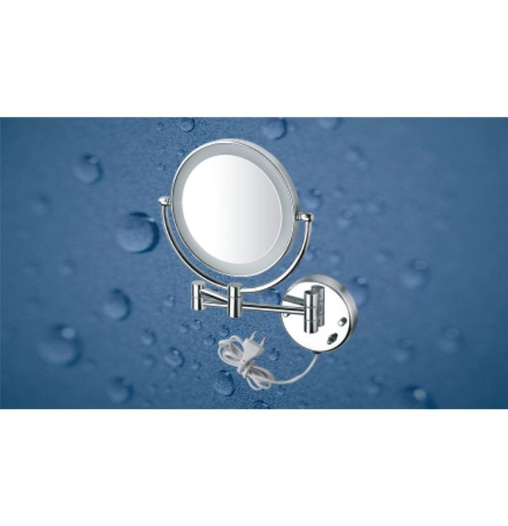 """Kich Bathroom Mirror with LED Light 8"""" In Glossy Finish"""