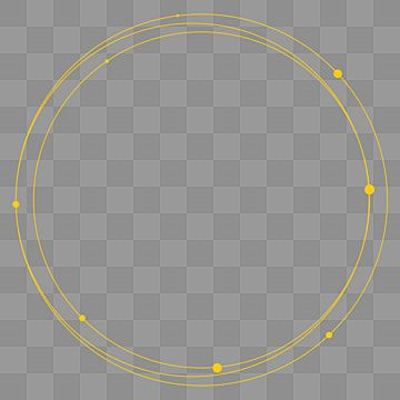 Minimalist Golden Circle Decorative Ring Ring Golden Tracing Line Png And Vector With Transparent Background For Free Download In 2021 Golden Circle Circle Frames Ornament Frame
