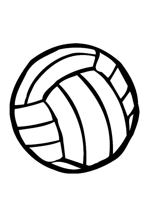 Volleyball Coloring Page For Kids Download Print Online Coloring Pages For Free Color Nimbus Volleyball Images Volleyball Wallpaper Volleyball Clipart