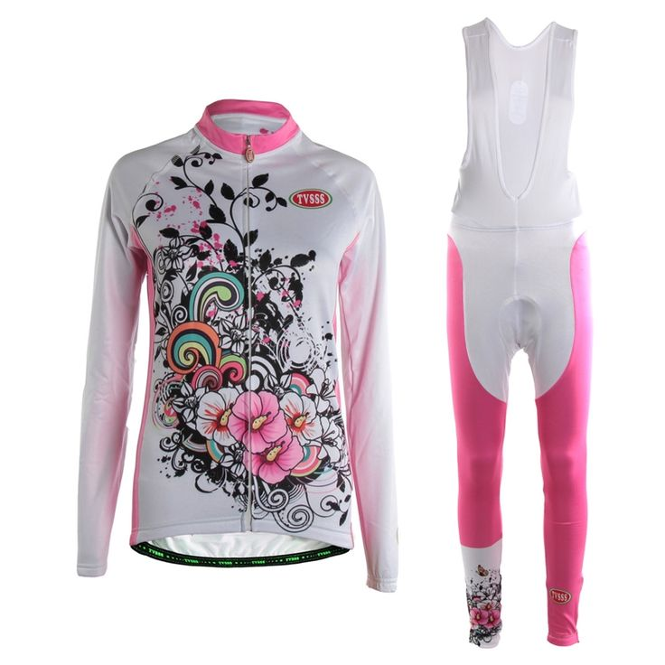 58.88$  Buy now - http://ali79g.shopchina.info/go.php?t=32802136131 - TVSSS Mavic Women's Summer Long Sleeve Cycling Clothes Breathable Quick Wicking Bike Jersey White and Pink Womens Cycling Suit 58.88$ #SHOPPING
