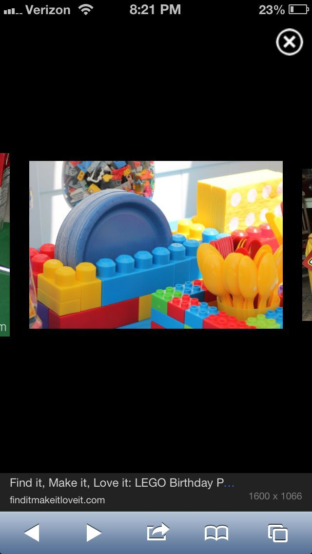 Blue And Gold Banquet lego | Mega blocks used for lego party decor....I think I could use duplos