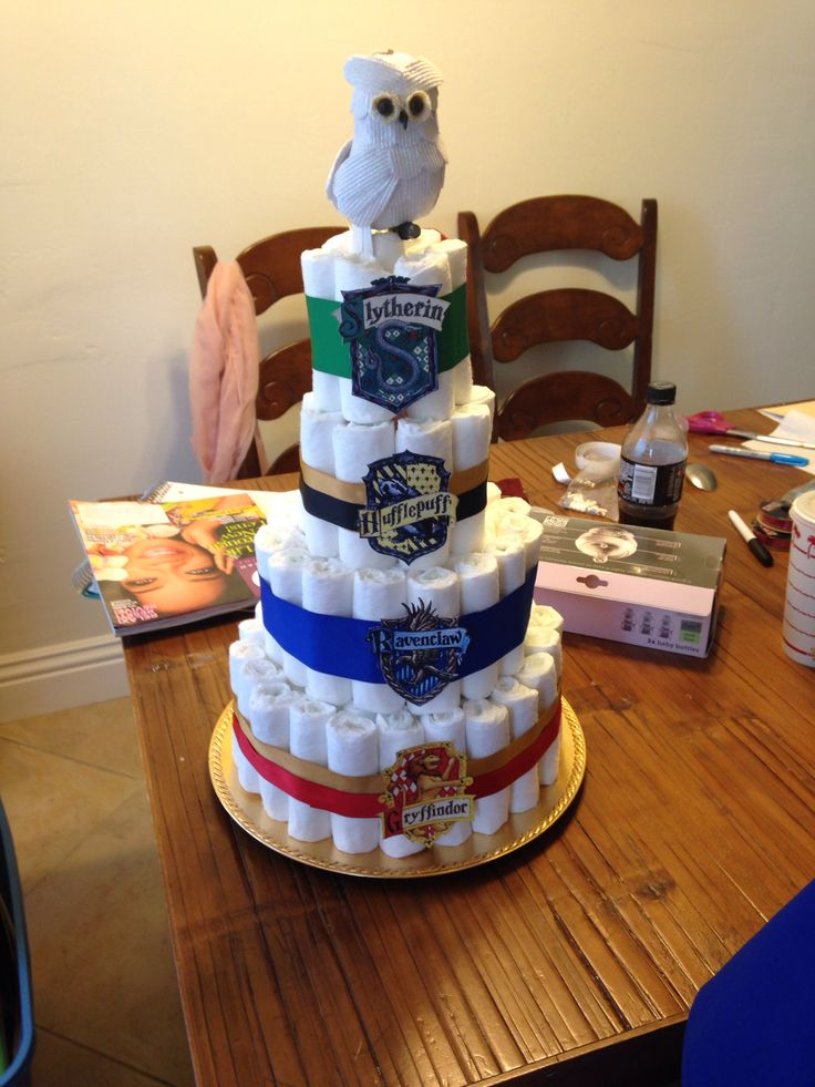 harry potter diaper cake harry potter themed baby shower pinterest