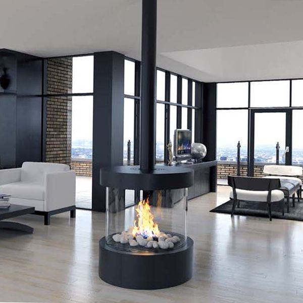 Ortal Circle 70 Circular Glass Fireplace In 2019 Gas