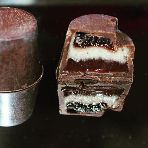 #blackforest #white #chocolate ganache #cherry #jelly #Kirch #darkchocolate #ganache