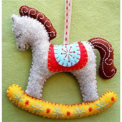 Corinne Lapierre Retro Childhood Felt Multibuy with Rocking Horse Pattern (369164) | Create and Craft