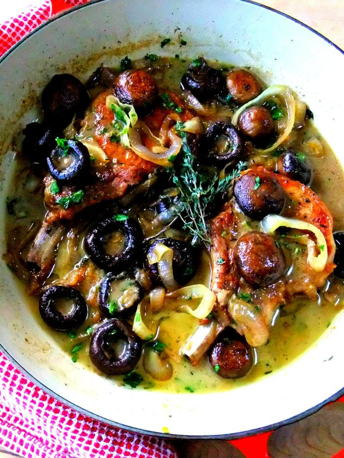 Pork Chops Marsala - Proud Italian Cook Umm...yum! This was excellent. Will definitely make again. I substituted baby bellas for the cremini mushrooms. Followed recipe otherwise, it took about an hour for prep/cooking. *****
