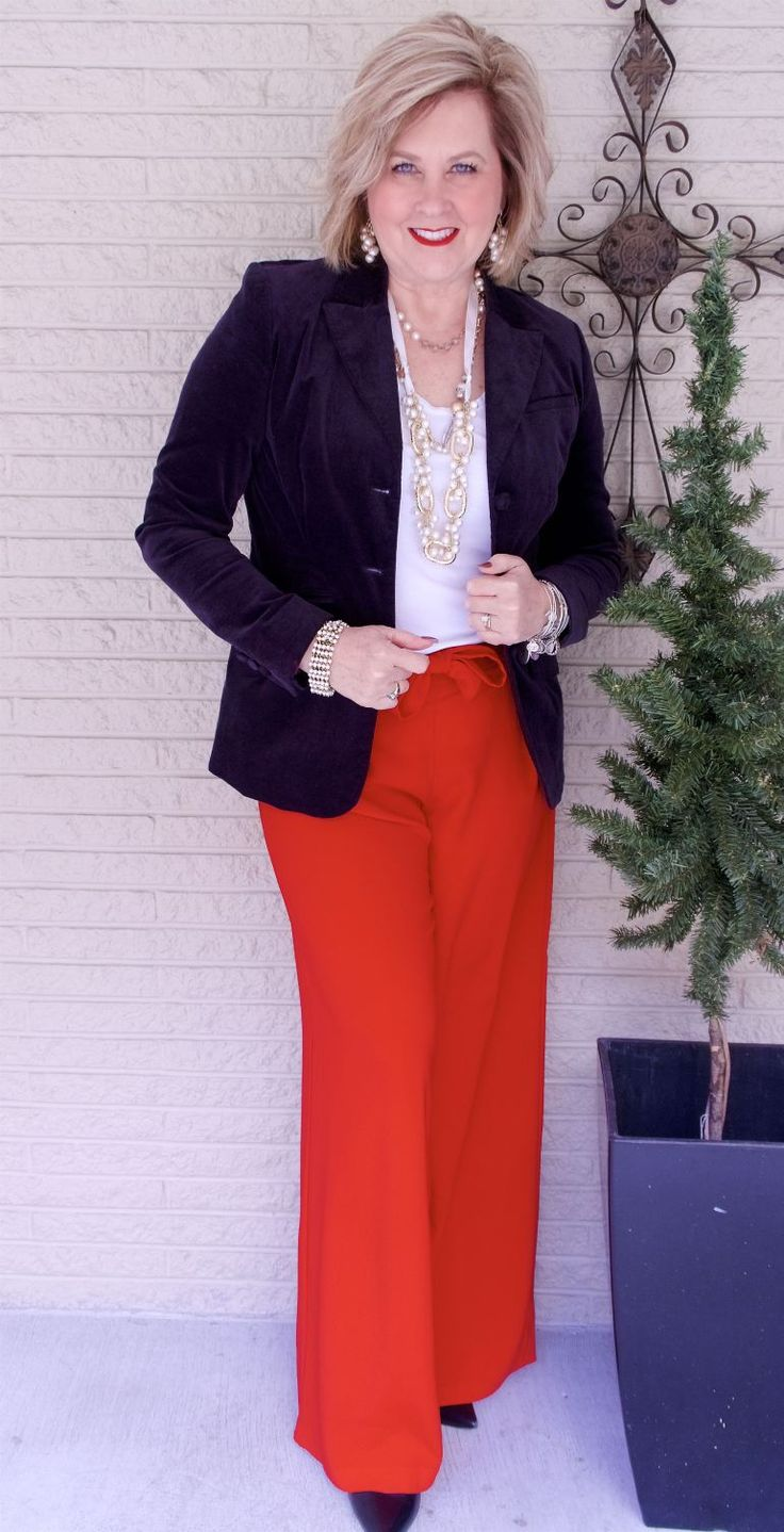 50 IS NOT OLD | WHAT TO WEAR ON A VALENTINE'S DATE | Date Night | Black and Red | Velvet Jacket | Fashion over 40 for the everyday woman