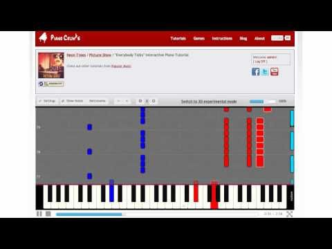 """How to Play """"Everybody Talks"""" by Neon Trees (""""Picture Show"""" album) - Piano Tutorial"""