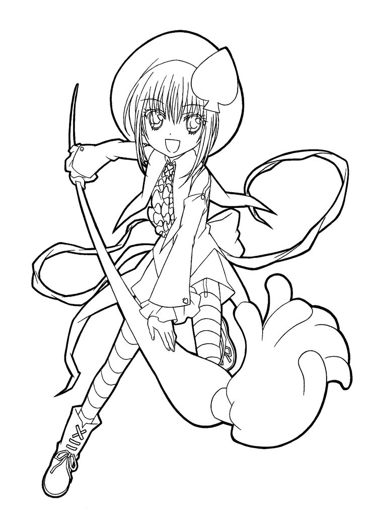Shugo chara anime coloring pages