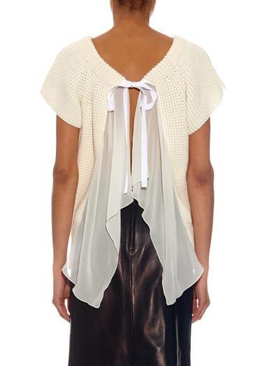 Nina Ricci Open-back cotton-blend sweater