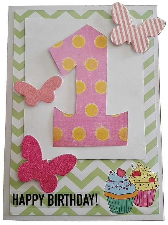 1st Birthday Cards Milestone Cards Baby Butterfly Cards Baby Toddler