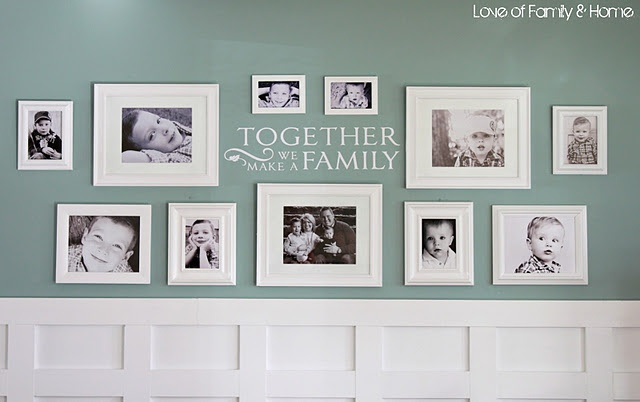 Board and batten and family gallery wall.  Love!