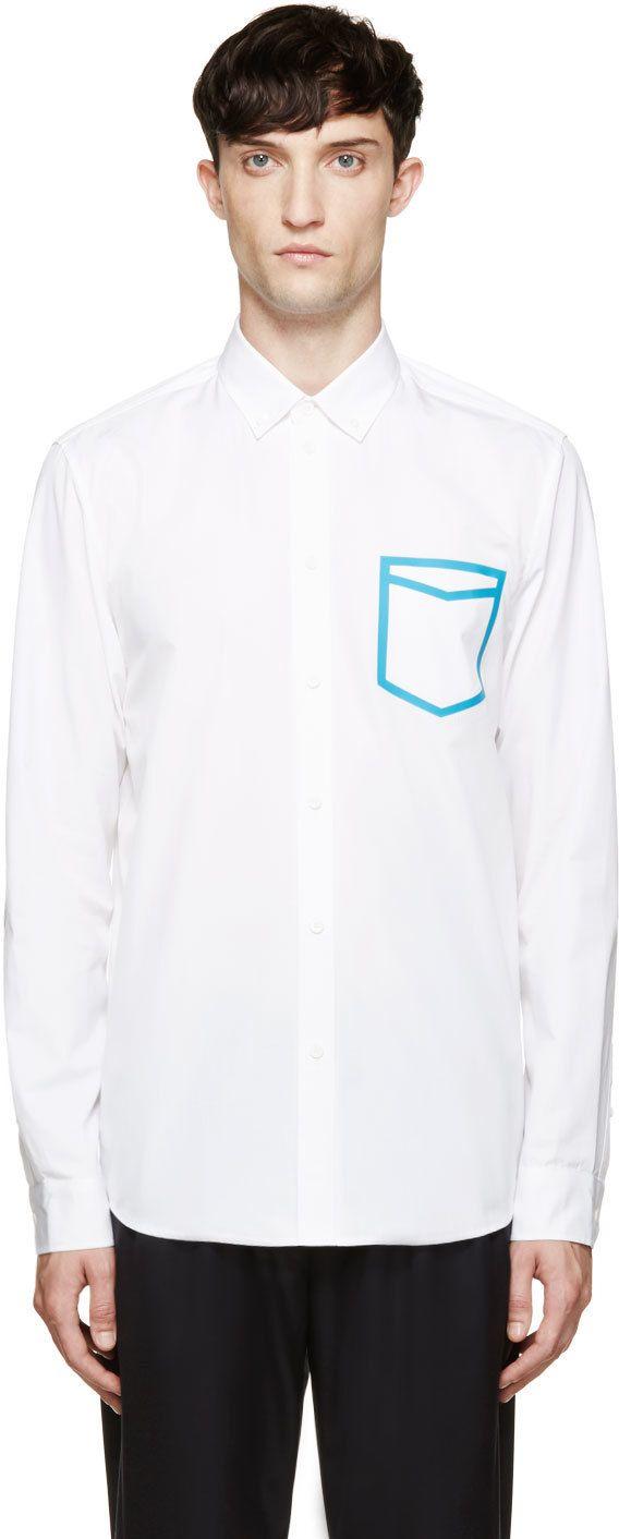 OAMC White & Blue Frame Shirt