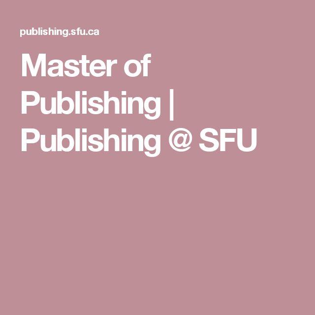 Master of Publishing | Publishing @ SFU