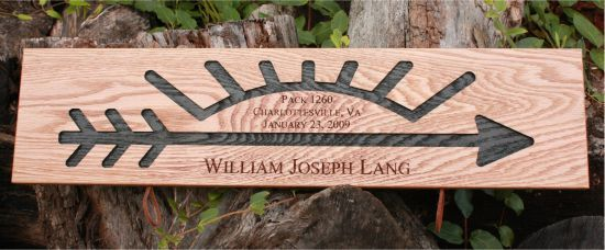 This place makes BEAUTIFUL Arrow of Light plaques. They are very reasonable priced and great communication! Very easy to work with!
