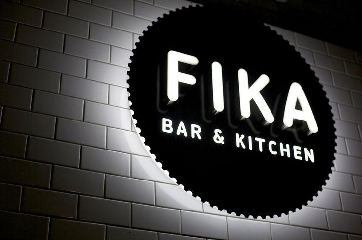 Fika signage night - Designers Anonymous