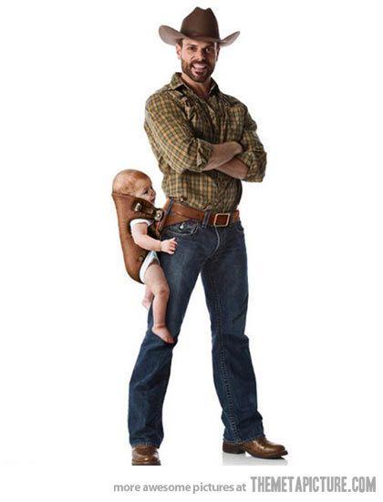 Carry Your Baby Like a Man..hahaha!