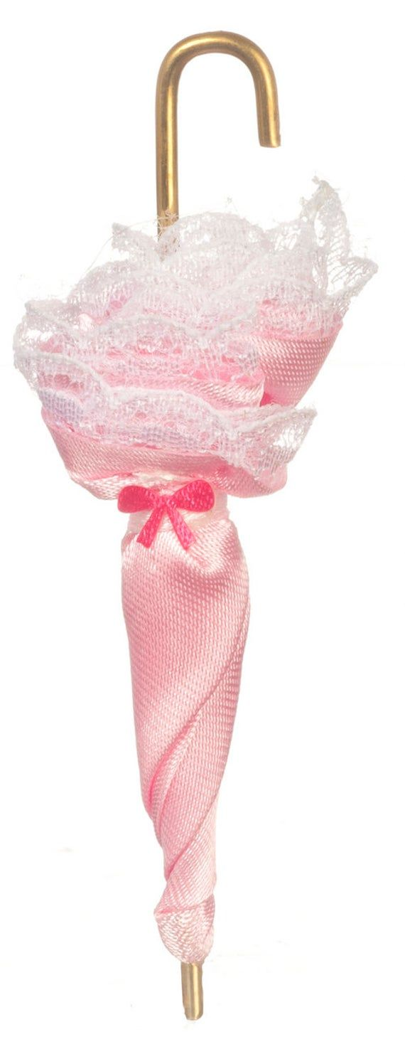 Dolls House Ladies Pink Victorian Umbrella Parasol ...