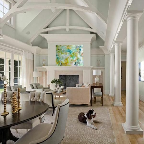 51 best interior design project french cape cod style for Half vaulted ceiling with beams