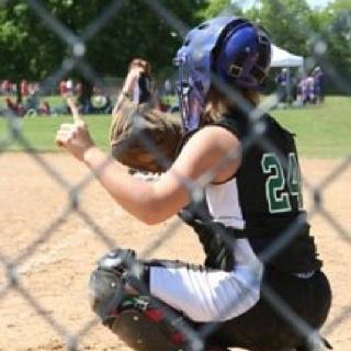 Callie as a Twister catcher