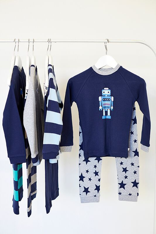 Winter Boys Robot PJ range available in sizes 1-8 .