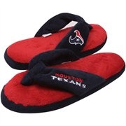 Houston Texans Ladies Navy Blue Plush Thong Flip Flop Slippers