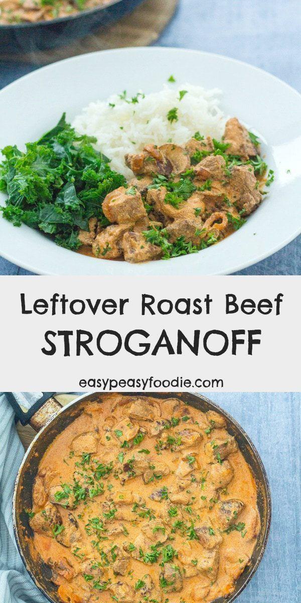 Leftover Roast Beef Stroganoff Recipe Leftover Beef Recipes Roast Beef Recipes Leftover Roast Beef Recipes