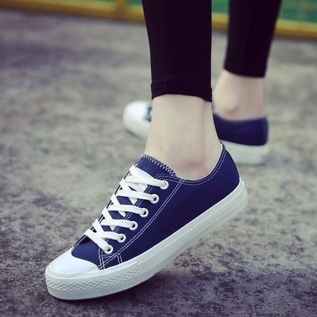 Womens Ladies Casual Comfort Canvas Trainers Pumps Girls Plimsolls Shoes Sizes