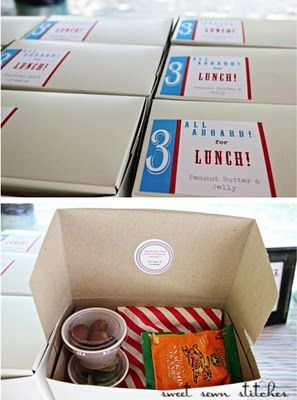 """Put together """"lunch boxes"""" before the party instead of leaving food to sit out where bugs can get to it! I love this idea!"""