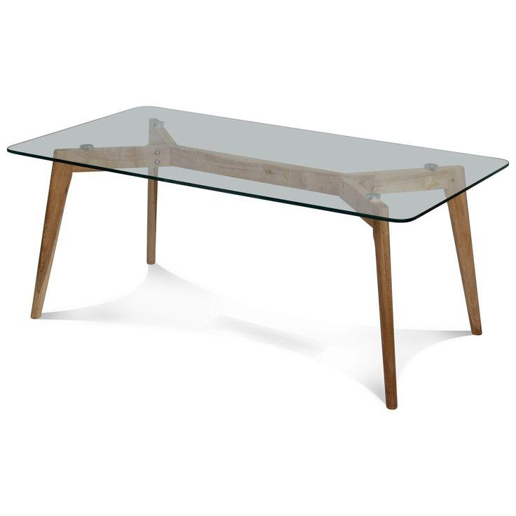 Table Basse Design Verre Et Bois Scandinave Fiord L Xp Xh Cm
