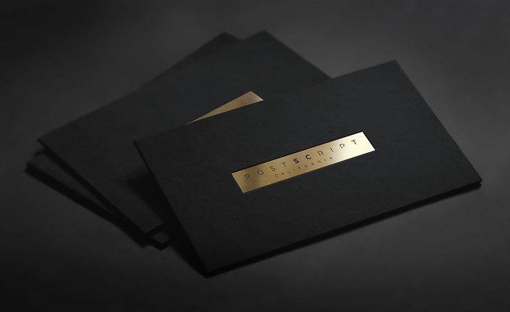 Golden foil business card presentation design