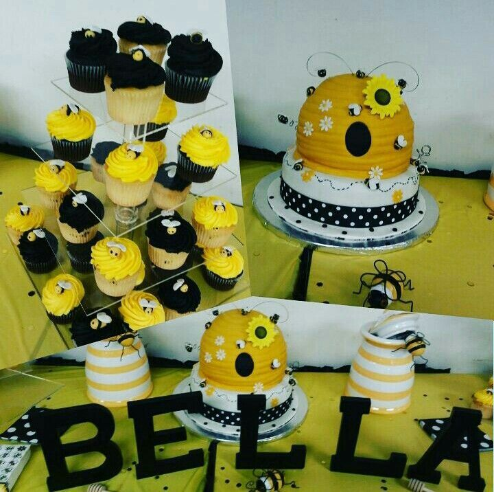"""""""Parent to Bee"""" Hive Cake & Cupcakes   Http://www.sweetbudsbakery.com  FOLLOW @SweetBudsBakery on IG and Twitter"""