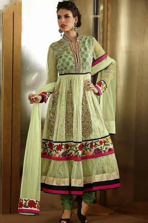 Wear a smile and carry your confidence wherever you go by styling yourself in this gorgeous designer Anarkali Suit!! http://ethnicstation.com/shop/women/salwaar-kameez/anarkali/cream-coloured-net-anarkali-suit-2904.html