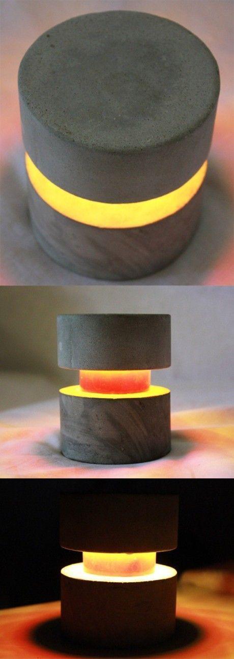 Concrete table lamp                                                       … #ConcreteLamp