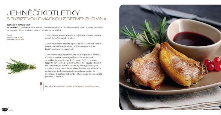 Jehněčí kotletky s rybízovou omáčkou na červeném víně recept, Tefal Uniflex
