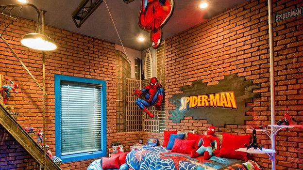 Ha Broden wants a Spider-man roomKids Bedrooms, Spiderman Bedrooms, Boys Bedrooms, Kids Room, Spiders Man, Fantasy Bedroom, Room Ideas, Boys Room, Superhero