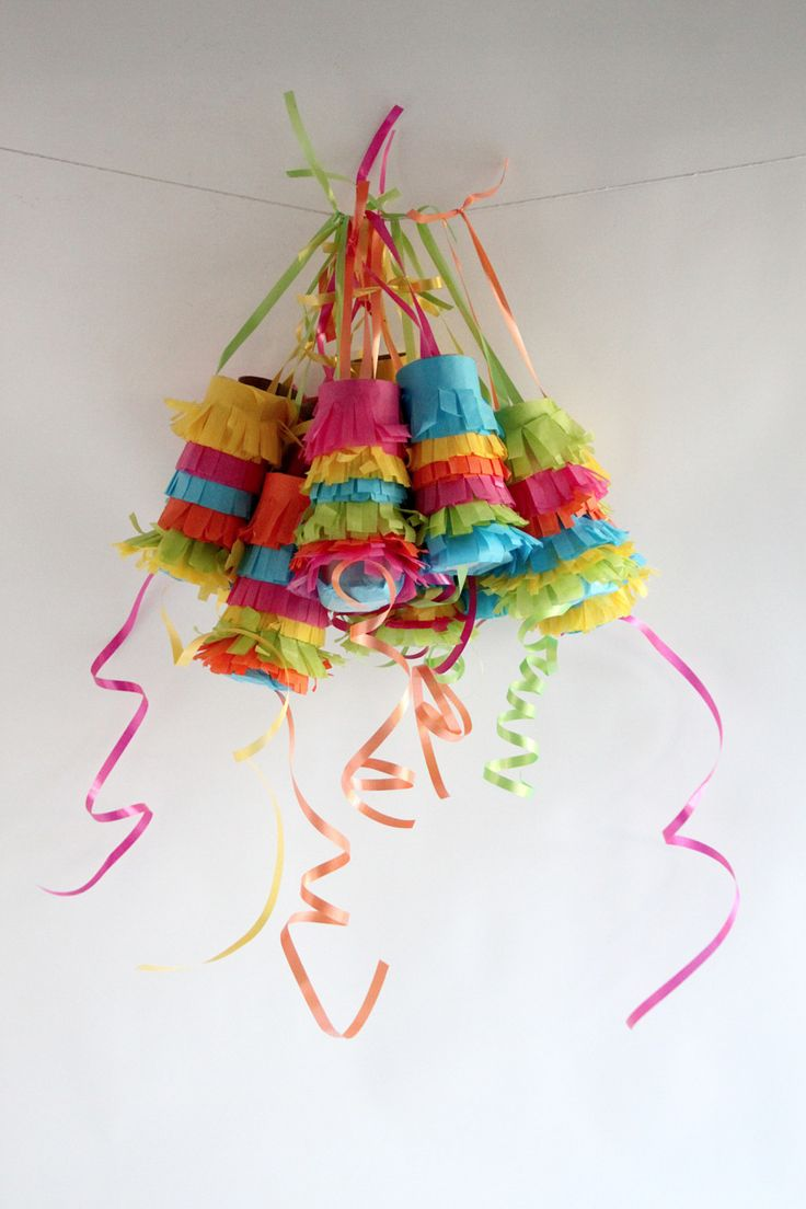Make everyone their own little pinata with a pull string......maybe for the next birthday party