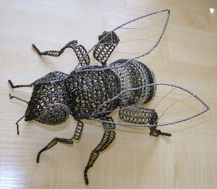 Bee wire art