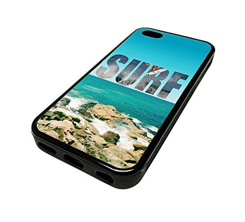 For Apple Iphone 5 or 5s Cute Phone Cases for Girls Beach Surf Surfer Surfboard Design Cover Skin Black Rubber Silicone Teen Gift Vintage Hipster Fashion Design Art Print Cell Phone Accessories MonoThings http://www.amazon.com/dp/B00KYFUW8Q/ref=cm_sw_r_pi_dp_Qk6Ntb1VVGH9H70C